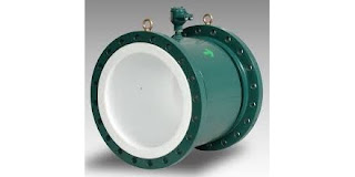 magnetic flow meter with corrosion resistant lining