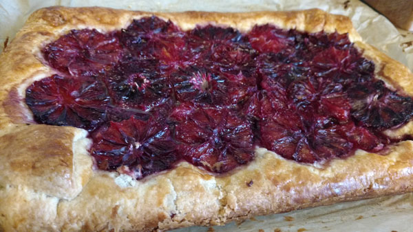 Flaky Blood Orange Tart from Food and Wine (serves 6) -