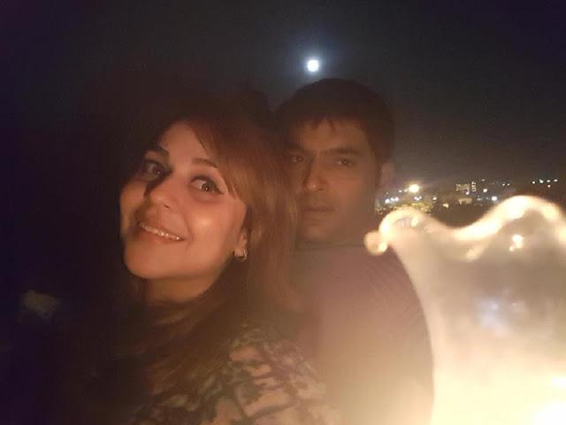 Kapil Sharma With His Girlfriend Or Wife Ginni