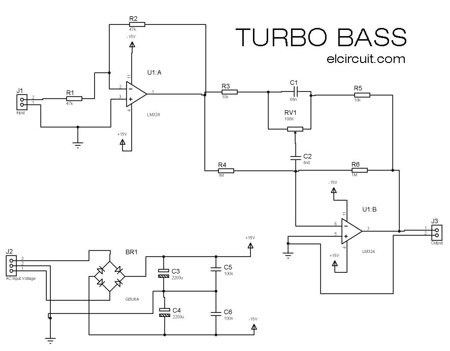 turbo bass or bass booster circuit electronic circuit rh elcircuit com bass booster circuit diagram billy bass circuit diagram