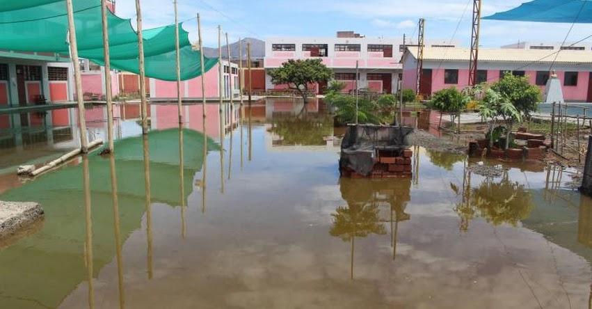 Emergencias han afectado infraestructura de 10 colegios en la región Áncash