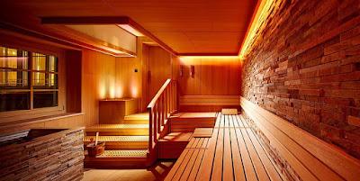 Phòng xông hơi trong thiết kế spa