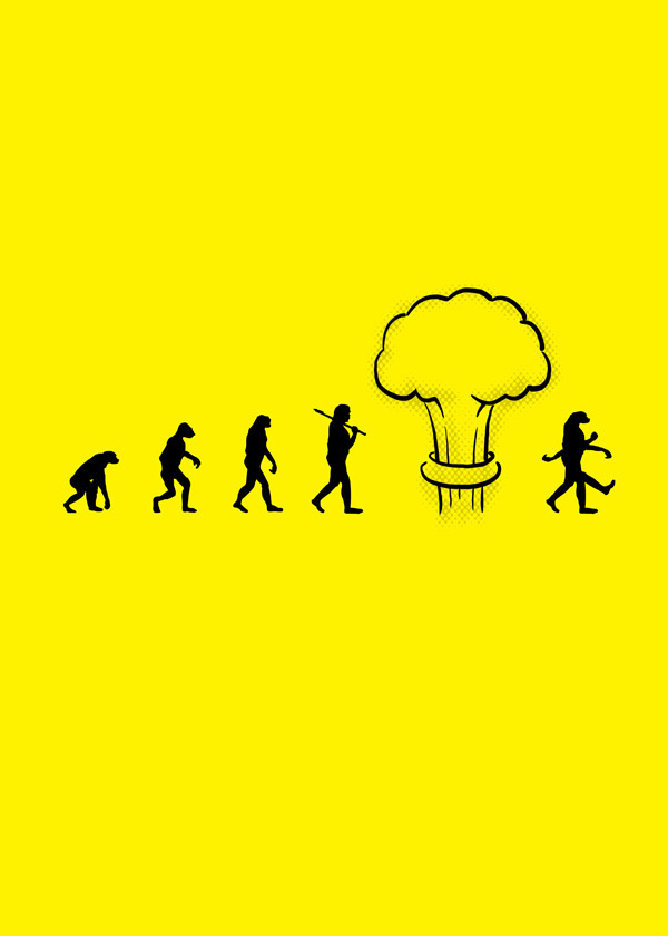 #7. A Hard-hitting View of Nuclear Evolution - 15 Funny Cartoons To Prove Evolution Has A Twisted Sense Of Humor.