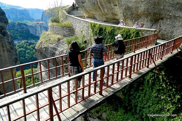 Ponte de acesso ao Mosteiro de Varlaam, Meteora