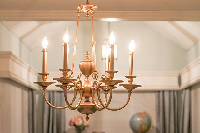 Diy dining room chandelier update oh so lovely blog and mozeypictures Image collections