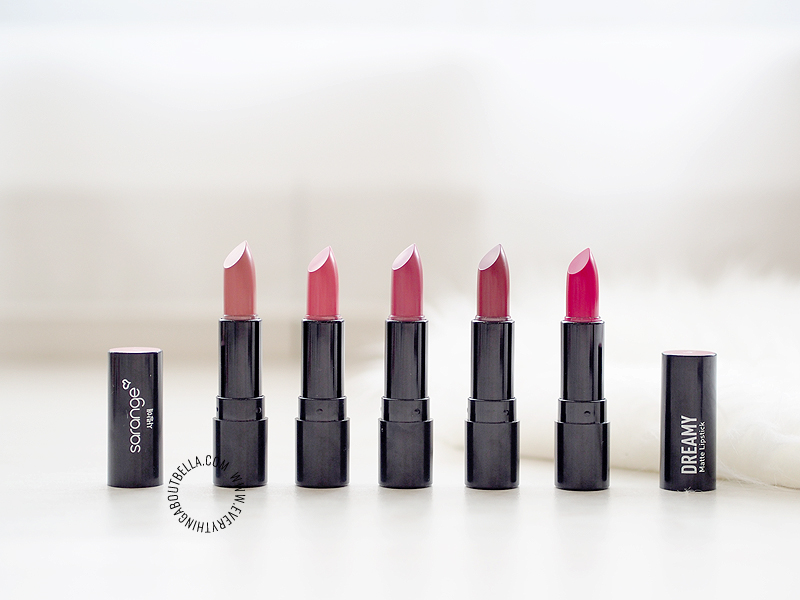 Sarange Dreamy Matte Lipstick Review & Swatches