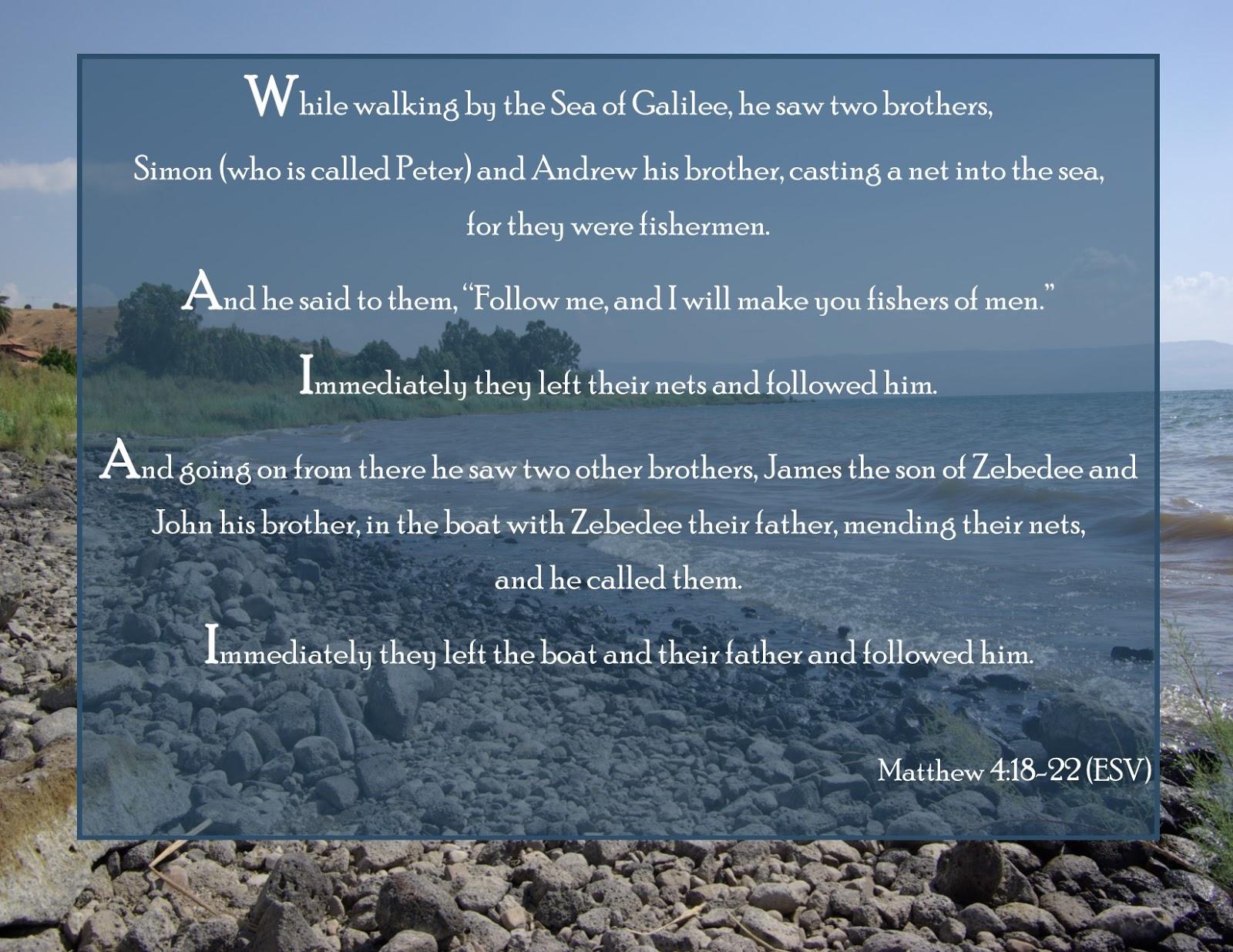 Scarlet Robe Scripture Verses: Matthew 4:18-22