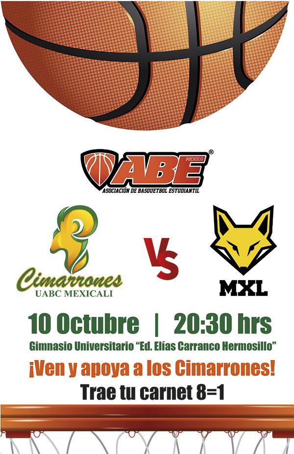 Facultad De Medicina Mexicali Partido De Baloncesto Varonil Uabc