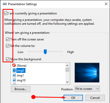 Methods to Turn On Presentation Mode in Windows 10