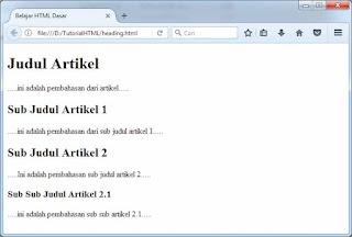 cara membuat judul heading 1 - Cara Menciptakan Judul Atau Heading Di Html (Tag H1)