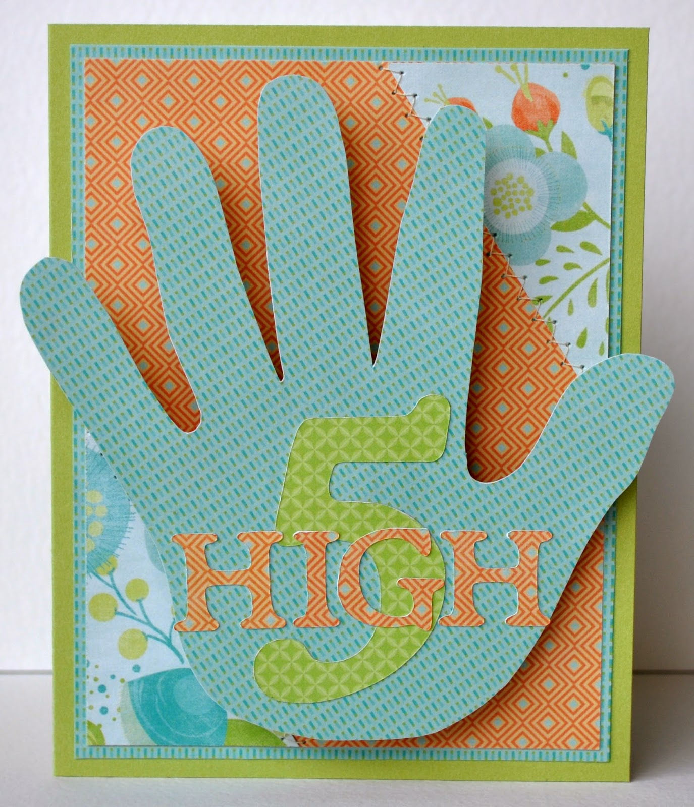 Karens High Five Birthday Card