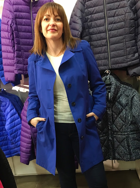 M&S Trench coat blue