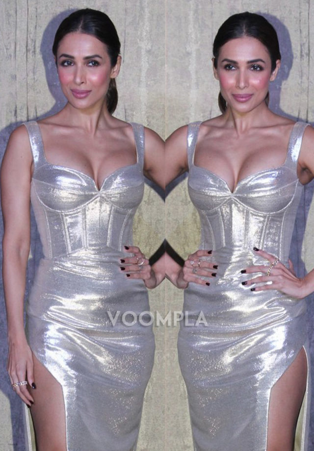 Malaika Arora Khan Huge Sexy Boobs Cleavages Spotted in Tight Sexy Dress