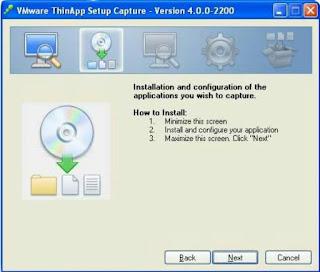 Cara Membuat Program portable dengan VMware ThinApp