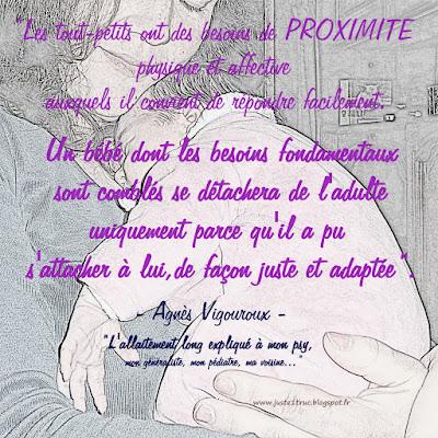 Agnès Vigouroux allaitement bébé besoins proximité câlin porter attachement
