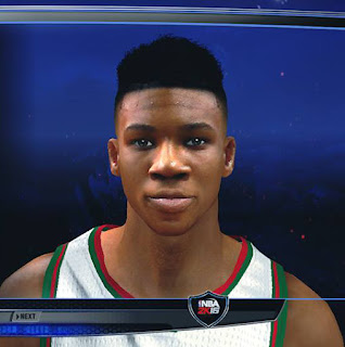Giannis Antetokounmpo Cyberface w/ update Hair For 2k14 ...