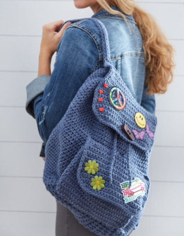 Patch Backpack Red Heart Free Crochet Pattern Kristi Simpson Designs