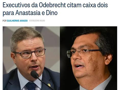Flávio Dino delatado na Operação Lava Jato por Caixa Dois
