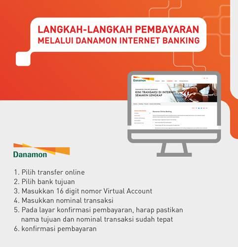 Tata Cara Pembayaran VA Danamon melaui Internet Banking Danamon