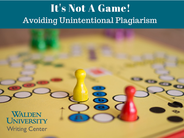 It's Not A Game: Avoiding Unintentional Plagiarism
