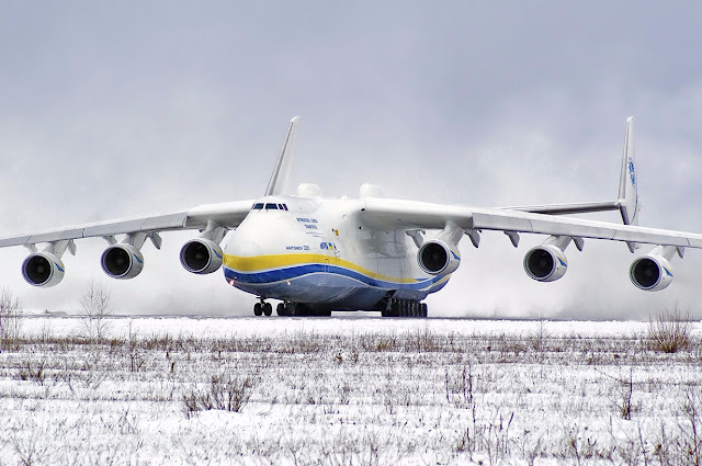 Antonov An-225 Mriya Takeoff At Gostomel Airport