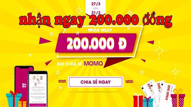 Cách nhận 200k từ đăng kí Ví Momo cho thành viên mới