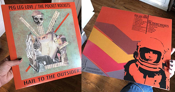 """Peg Leg Love / The Pocket Rockets SPLIT 12 Inch Vinyl """"Hail To The Outsiders"""" - Potent, Raw and Oh So GOOD"""