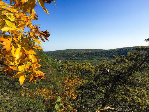 View from the South Face at Devil's Lake State Park on the Ice Age Trail/East Bluff Trail