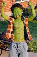 disfraz y maquillaje de hulk