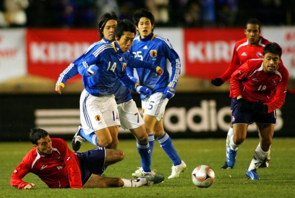 Japón y Chile en partido amistoso, 26 de enero de 2008