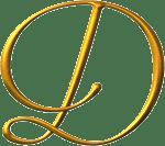 letra d dorada