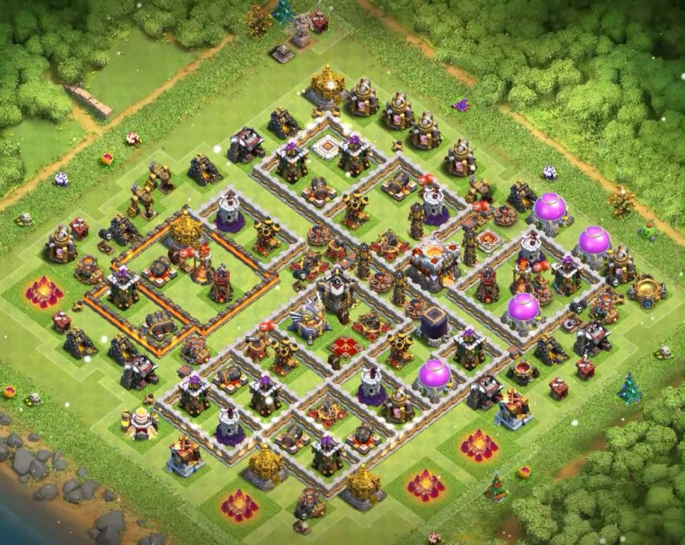 level 11 farming design to protect loot gold and elixir