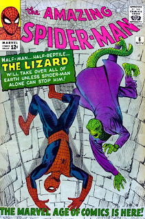 Amazing Spider-Man #6 1963 cover. 1st Lizard