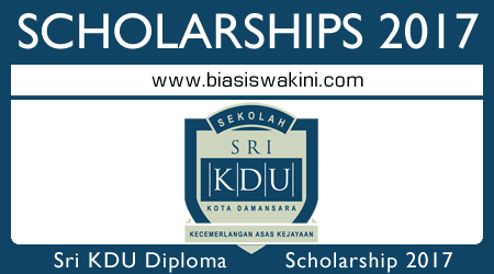 Sri KDU International Baccalaureate Diploma Programme Scholarship Award 2017