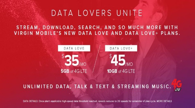 Virgin Mobile phone plans with unlimited data