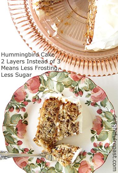 Hummingbird Cake - Banana Pineapple Cake with Cream Cheese Frosting / www.delightfulrepast.com
