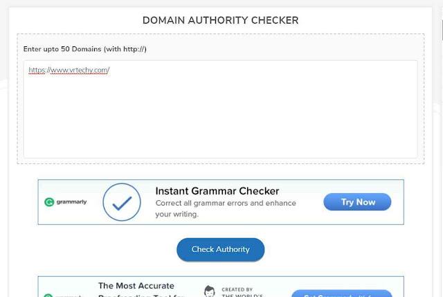 free mai domain authority kaise check kare ?