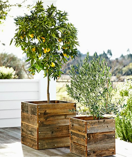 Outdoor Decor Wood Planters B A S Blog