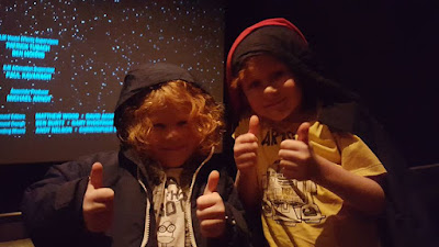 Star wars review from 5 and 7 year old The Force Awakens