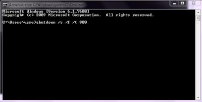 Membuat Auto Shutdown Menggunakan Command Prompt {CMD}