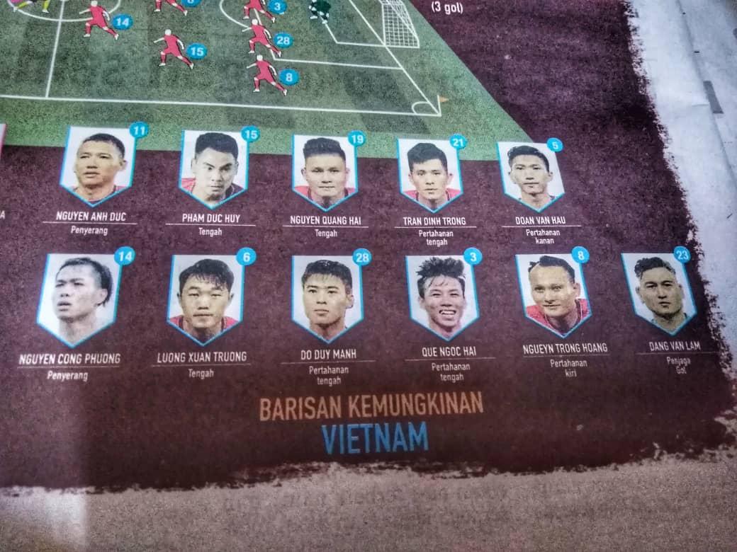 barisan pemain vietnam final aff suzuki cup 2018