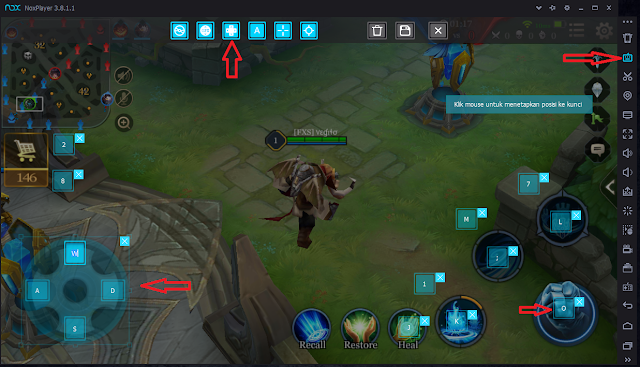 setting joystick mobile legends