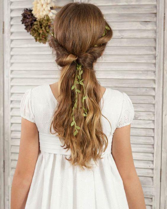 Sensacional peinados sencillos para comunion Fotos de tutoriales de color de pelo - 17 Modelos y tutorial para hacer peinados para niñas de ...