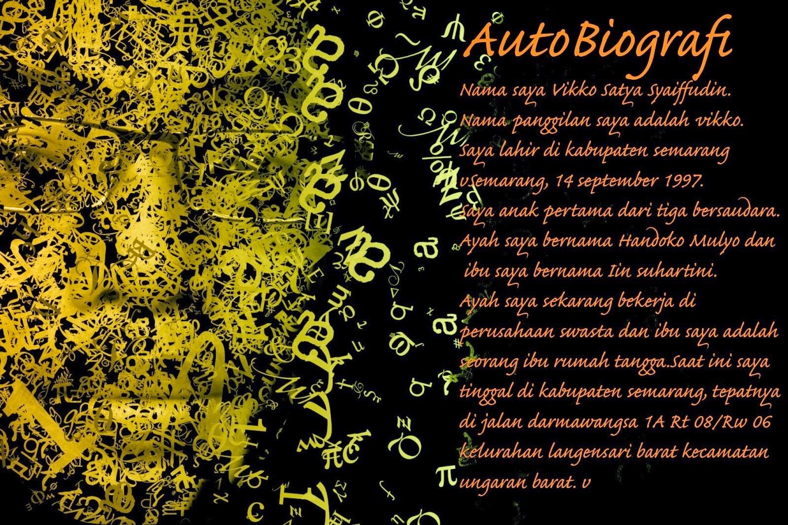 Pengertian Autobiografi Dan Contoh Autobiografi Perpustakaan Vikko
