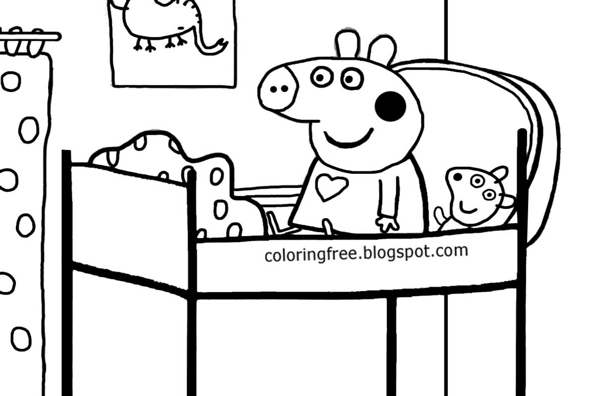 Free Coloring Pages Printable Pictures To Color Kids Drawing Ideas Cartoon Peppa Pig Printable