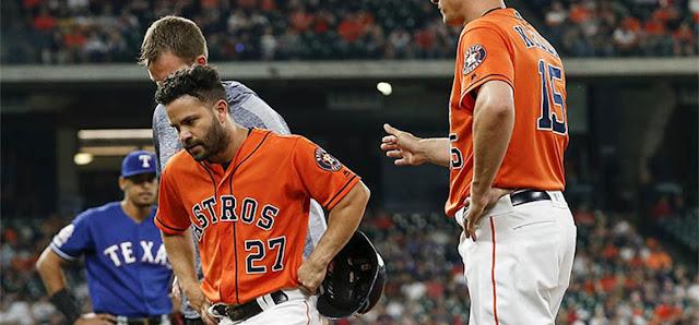 BÉISBOL: Altuve dijo que sintió que su músculo se tensaba cuando corría a la primera base.