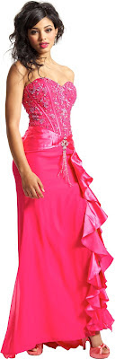 pink strapless long prom dresses for plus size juniors teens