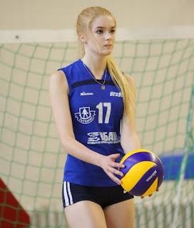 atlit bola voli wanita mirip barbie, Alisa Manyonok