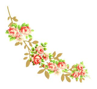 corner design digital crafting scrapbooking rose flower image