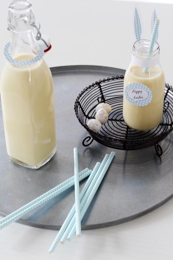 Pina Colada ohne Alkohol selber mixen, Küchendekoration im Industrial Style in weiß türkis